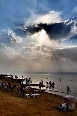 DSCF3984 (Adrien Poncet-Montanges) Tags: sun clouds swim jordan nuages deadsea jordanie mermorte
