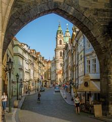 Mostecka Street in Prague, early morning (Anguskirk) Tags: city europe prague czechrepublic czechoslovakia stnicholaschurch lessertown malastrana mostecka earlymorming rivieratravel