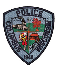 Columbus Police (Nate_892) Tags: columbus wisconsin police patch shoulder officer
