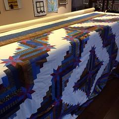 Papa's Quilt (CASharp) Tags: quilt bright logcabin quilting patchwork caperton topstotreasures