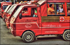 Tuk Tuk (mynameisjimmy79) Tags: road street travel red people tourism car canon thailand photography high tour dynamic map tourist vehicle phuket mapping range tone hdr bangla mapped 6d