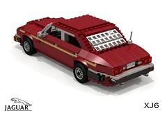 Jaguar XJ6 (XJ40 - 1986) (lego911) Tags: auto uk england car sedan model lego britain render 80s gb jaguar 1986 1980s saloon cad povray moc xj6 ldd xj40 miniland lego911 liketotally80s