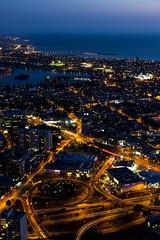 Melbourne Sunset 2.jpg (Soundscapemind) Tags: city sunset dusk australia melbourne aerial citylights lighttrails longshutter slowexposure eurekaskytower