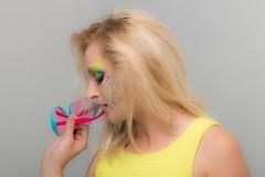 Neon Colours (Marcin Selerski) Tags: portrait woman color colour girl rainbow neon colours portret kobieta canon70d