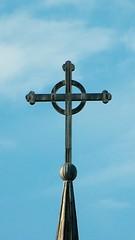 Cross atop steeple (Will S.) Tags: ontario canada church catholic churches christian christianity catholicism mypics romancatholic grafton rcc romancatholicchurch romancatholicism assumptionofthevirginmaryromancatholicparish
