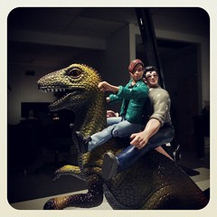 Dino riding with #edwardfurlong #jeffgoldblum (jesselnash) Tags: jeffgoldblum edwardfurlong uploaded:by=flickstagram instagram:photo=5123520449977392471130575