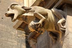 Chimre - Chimera (gripspix (catching up slowly)) Tags: france church stone frankreich gothic stmartin colmar gargoyle alsace stein chimera gotik elsas stonemasonry steinmetzarbeit wasserspeier chimre martinsmnster 20140622