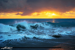 Breaking Wave at Sunrise Ocean Reef Riviera Beach
