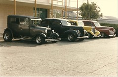 Over The Hill Gang Cruise Night at Pan's Diner 5/17/86 (USautos98) Tags: ford hotrod custom streetrod overthehillgang