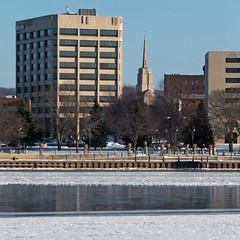 Open River (DewCon) Tags: winter steeple mississippiriver