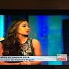 Alejandra Argudo, Miss Ecuador 2014, en su entrevista en Showbiz de CNN en español con Mariela Encarnación. No hay vídeo, a menos que alguien haya grabado la entrevista o CNN la suba.