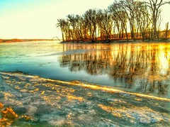 Colorful Mississippi River Sunrises (davesheffield) Tags: sunrise colorful mississippiriver quadcities illinoissunrise uploaded:by=flickrmobile flickriosapp:filter=nofilter