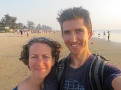India - Arambol (Canadian Veggie) Tags: trip travel vacation india beach me emily goa backpacking arambol