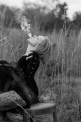 IMG_6255 (BWIBrendan) Tags: myrtlebeach model cigarette tights smoking beautifulwoman prettygirl cigarettesmoke patternedtights modelmayhem