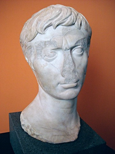 """Portrait of Augustus"" end 1st century BC, from Herculaneum - Herculaneum, Archaeological Warehouse - ""Augustus and Campania"" - Exhibition at Archaeological Museum of Naples, until May 4, 2015"