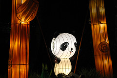 ChinaLights_Panda on a swing (MelisaTG) Tags: nightphotography utrecht thenetherlands canon600d chinalightsexpo chinalight030