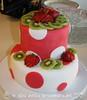 Fruit & Polka Dots Birthday Cake