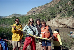 3e-807 (ndpa / s. lundeen, archivist) Tags: summer man color men film boys sunglasses 35mm river glasses utah colorado nick july shades hills rafting nd oar raft alexander aspen eyeglasses 1980 1980s lifejacket lifepreserver dewolf 3e youngmen doloresriver raftingtrip whitewaterraftingtrip nickdewolf photographbynickdewolf brokenoar burrfleming reel3e
