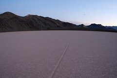Sliding stone gone (daveynin) Tags: sunset stone racetrack track path playa wilderness drylakebed slidingstones