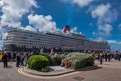 Queen Elizabeth (Star*sailor) Tags: blue sky clouds liverpool docks ship elizabeth queen cunard