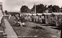 Pontins South Devon Holiday Camp, Paignton (trainsandstuff) Tags: vintage postcard chalets paignton pontins holidaycamp southdevon