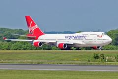 "G-VROY Boeing 747-41R Virgin Atlantic MAN 03-06-16 (PlanecrazyUK) Tags: man manchester virginatlantic 030616 ringway egcc airport"" gvroy ""manchester boeing74741r"