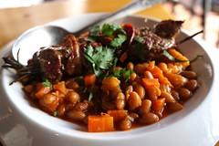 Lamb at  A Basq Kitchen (deeeelish) Tags: beans lamb skewers