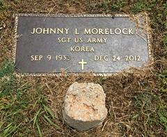 Morelock Headstone (eloisedv) Tags: oklahoma cemetery headstone gravemarker cartercounty lonegrove