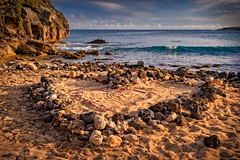 Heart Marks the Spot (Fort Photo) Tags: ocean travel wedding love beach nature landscape hawaii nikon paradise waves heart pacific dusk scenic panoramic kauai tropical tropics d500 shipwreckbeach menefee michaelmenefee