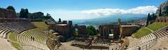 Taormina ancient ruins panorama (somabiswas) Tags: italy panorama architecture ancient ruins theatre sicily taormina