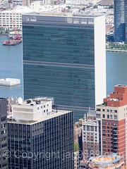 United Nations Secretariat Building on the East River, New York City (jag9889) Tags: nyc newyorkcity usa ny newyork building water architecture skyscraper river observation unitedstates outdoor manhattan unitedstatesofamerica aerialview landmark midtown deck observatory esb unitednations eastriver empirestatebuilding rooseveltisland waterway openair secretariat 2016 fdrfourfreedomspark jag9889 20160610