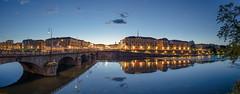 A night in Turin (Attilio Piselli) Tags: sky italy night clouds reflections river landscape torino cityscape po bluehour turin