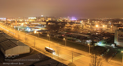 Golden River (PhoenixRoofing164) Tags: road city urban night landscape roofing