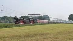 VSM 23 071 + 23 076 met de trein van Westfalendampf. (twenterail) Tags: railroad train eisenbahn zug trein spoorwegen stoom vsm br023 westfalendampf stoomlokomotief