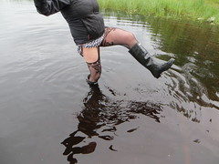 Water in wellies (jazka74) Tags: original wet fun boots rubber use hunter wellies leaky
