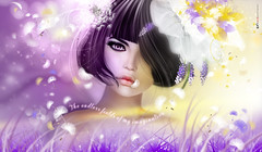 Te edle eld o y o... (AyE  I'  voT) Tags: pink primavera beauty portraits painting spring retrato digitalart violet rosa illustrations digitalpainting vision dreamy emotional magical viola ritratto artworks  portrature miamor artportrait digitalfantasy emotionalart