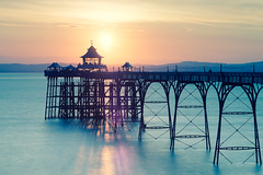 The Shadows! (~g@ry~ (clevedon-clarks)) Tags: longexposure sunset seascape landscape coast pier glow victorian somerset coastal crossprocessing clevedon northsomerset clevedonpier victorianpier partyatthepier 6stopnd hitechfilters