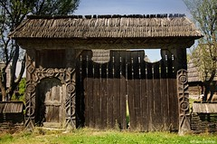 Carved wooden gate from Maramures region, Transylvania (Journey to Transylvania) Tags: wood rural countryside ancient gate symbol traditional culture carving romania tradition transylvania transilvania peasant maramures ardeal