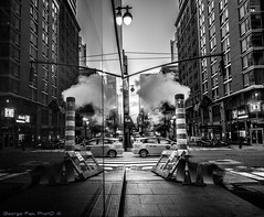 steamy streets (Georgio's Photography) Tags: street nyc newyorkcity blackandwhite bw newyork monochrome mono manhattan scenicsnotjustlandscapes