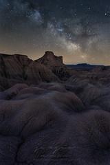 Following the stars (sgsierra) Tags: bardena bardenas bardenasreales noche night milky way vía lactea stars nicht desierto desert arguedas navarra españa spain