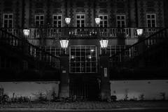 lights (elhanzo) Tags: bw night germany symmetry arquitecture simetra