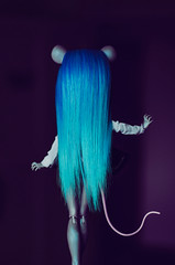 Gradient (Klio.13) Tags: monster hair toys high dolls bluehair mattel reroot dollphotography byby toyphotography dollhair hairgradient monsterhigh booyork mouscedes mouscedesking