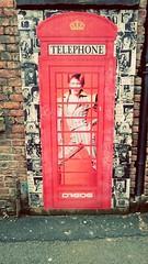 Manchester Graffiti (WatermelonHenry) Tags: red david wall manchester bowie grafitti phone graffitti telephonebox ziggy