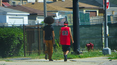 coolest guy ever (timp37) Tags: summer june hair walking illinois cool afro down number 93 coolest cicero fro 2016