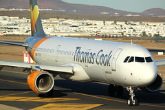 Golden hour (GSairpics) Tags: travel airplane flying airport spain aircraft aviation ace transport flight jet lanzarote aeroplane airline airbus canaryislands airliner jetliner a321 gcrr thomascook tcx thomascookairlines arrecifeairport gtcdg