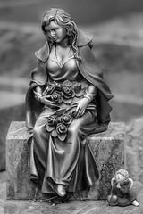 Silence (Bluespete) Tags: cemetry bw friedhof monochrome lady germany nikon natur cc sw psi figur schwarzweis bleidenstadt d7100 petersieling 6322425 32143153 bluespete