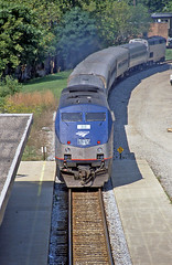 Early in the Phase V Era (craigsanders429) Tags: amtraktrains amtrak annarbormichigan amtrakinmichigan amtrakwolverineservice amtrakp42dc p42dc passengertrains passengercars amtrakhorizonequipment