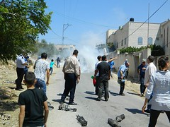Kafr Qaddum demonstrations met with tear gas On the 15th of July in the afternoon, the people of Kafr Kaddum took part in a demonstration against the Israeli Armys continuing theft of their road. The soldiers checked cars going in and out of the village, (Palreports) Tags: israel palestine occupation