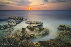 The Edge (Goesena) Tags: longexposure blue sunset bali cloud seascape water yellow rock landscape soft hard lot homemade tanah gnd tabanan melasti camdiox