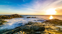 Surging Waters (patrick_rooke) Tags: longexposure blue sunset seascape nikon sigma wideangle srilanka buckinghamplace d7100